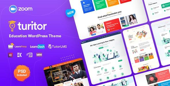 Turitor LMS & Education WordPress Theme Free Download
