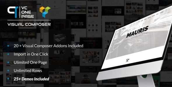 ONE PAGE BUILDER ADDONS FOR VISUAL COMPOSER