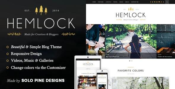 Hemlock News Blog Wordpress Theme