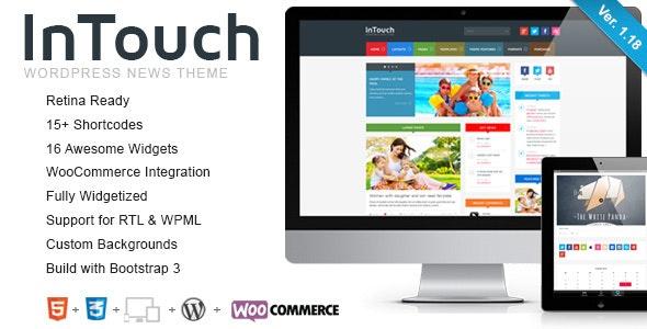 Intouch Retina News Wordpress Theme
