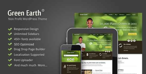 Green Earth Environmental WordPress Theme