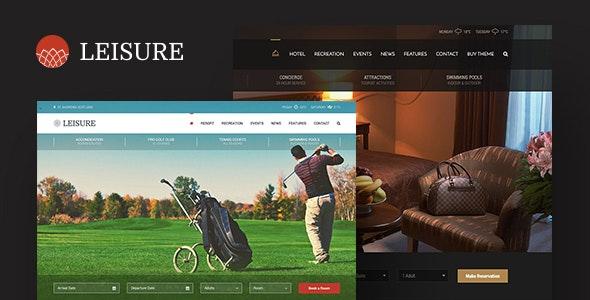 Leisure Hotel Wordpress Theme
