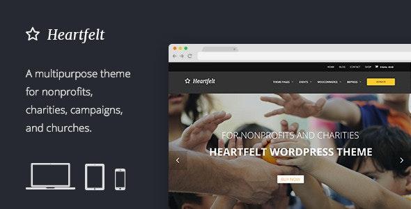 Heartfelt Humanitarian Wordpress Theme