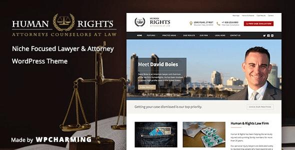 HumanRights Lawyer and Attorney WordPress Theme