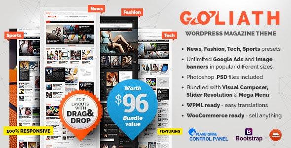 GOLIATH WordPress theme