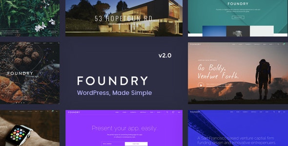 Foundry Multipurpose MultiConcept WP Theme