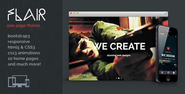 Flair One Page Responsive WordPress Theme