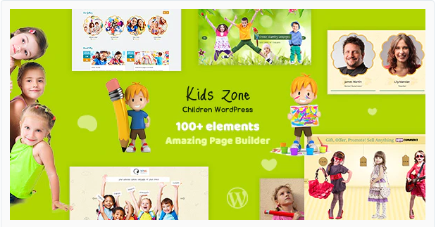 Kidszone Children Kids Wordpress Theme