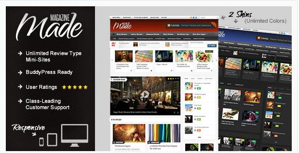 Made Review Magazine Wordpress Theme