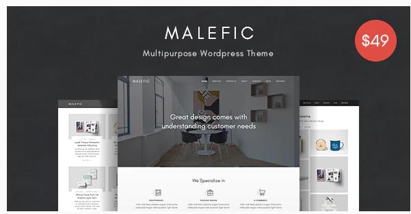Malefic Multipurpose one page wordpress theme