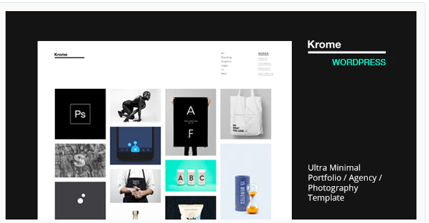 Krome Minimal Creative Wordpress Theme