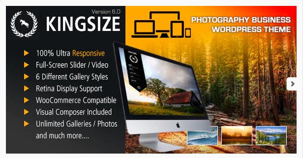 KingSize Fullscreen Photography Wordpress Theme
