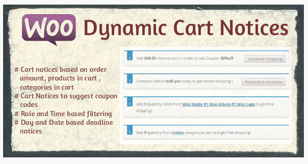 Woocommerce Dynamic Cart Notice