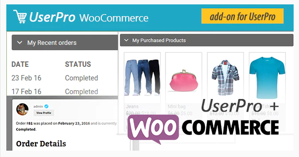 WooCommerce integration for UserPro