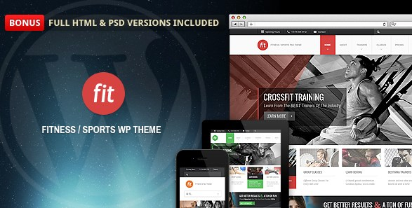 Fitness Gym Responsive WordPress Theme