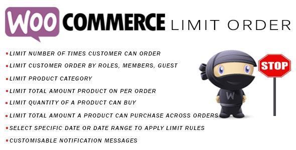 woocommerce Limit Order WordPress plugin