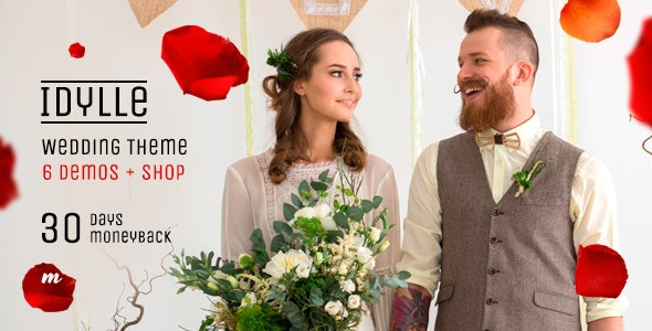 Idyllee Wedding Wordpress Theme