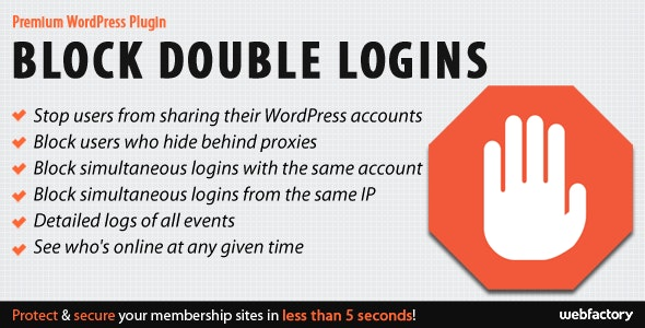 Block Double Logins Protect Site