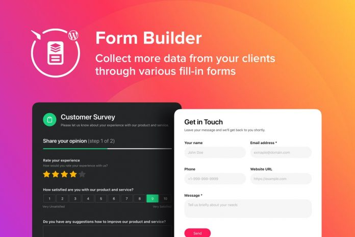Elements WordPress Form Builder Plugin