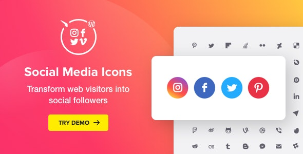 WordPress Social Media Icons Icons Plugin