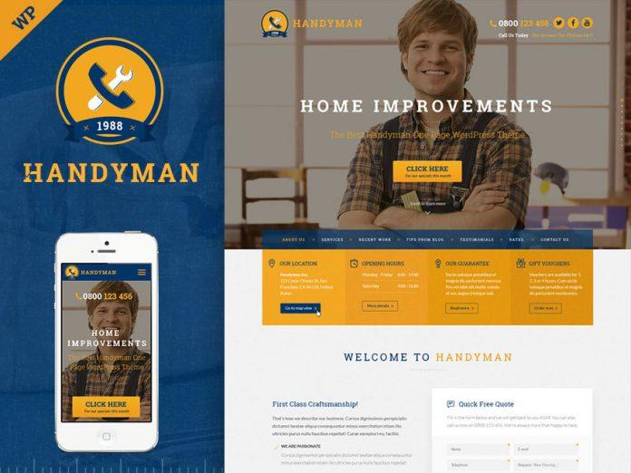 Handyman Craftsman Business WordPress Theme