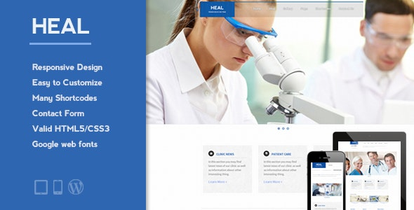 Heal Medical Wordpress Theme