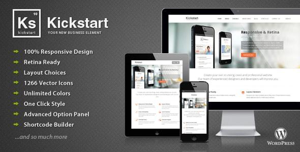 Kickstart Retina Multipurpose Wordpress Theme