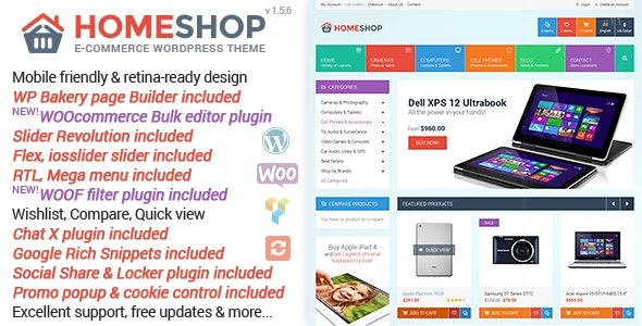 Home Shop WooCommerce Theme Free Download