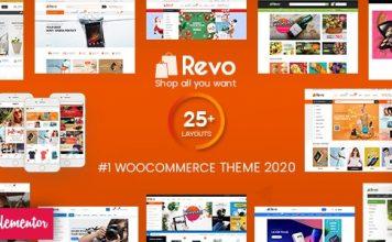 Revo v3.8.4 NULLED Multipurpose WooCommerce WordPress Template Free download