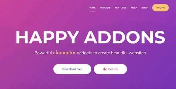 happy elementor addons free download