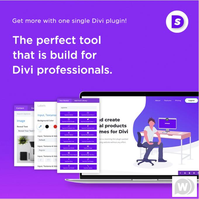 Divi supreme pro creative modules for divi wordPress