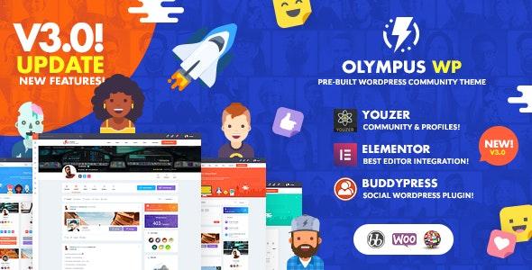 Olympus Social Networking WordPress Theme