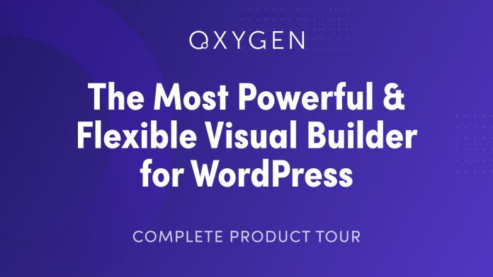 Oxygen Builder ADDONS visual editor WordPress