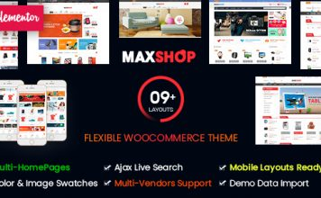 Maxshop WordPress Woocommerce Theme