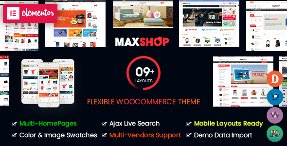 Maxshop WordPress Woocommerce Theme