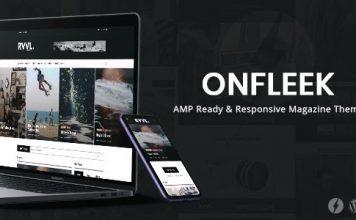 Onfleek News Template WordPress