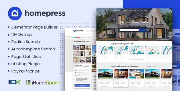 HomePress Real Estate WordPress Theme