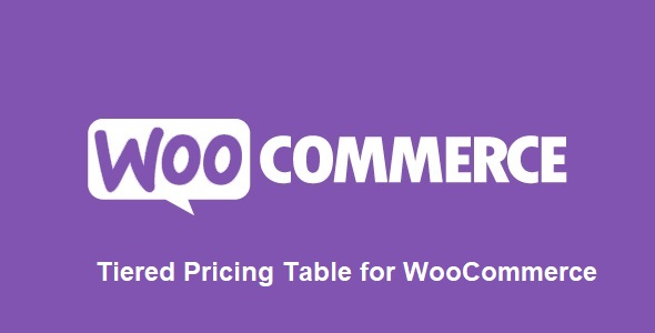 Tiered Pricing Table for WooCommerce