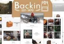 Backin Bags And Backpack Modern Shopify Theme